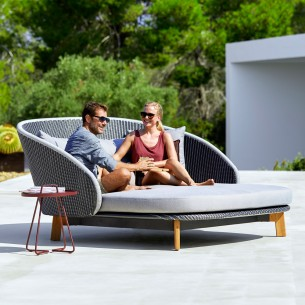 PEACOCK Double Daybed Grey...