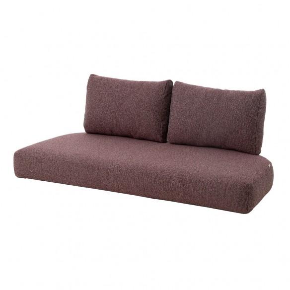 Cane-line Nest 2-seater sofa, natural - bordeaux