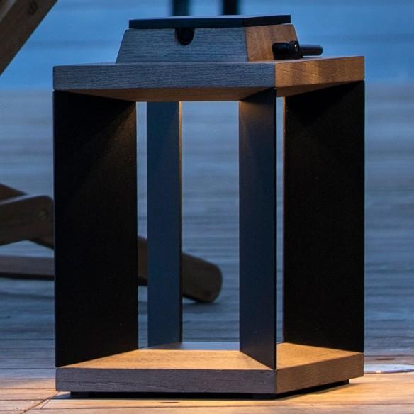 DURATEK Solar Lantern H36cm Aluminium Rechargeable LED Adjustable Brightness