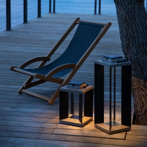 Les jardins DURATEK Solar Lantern H36cm Black Aluminium
