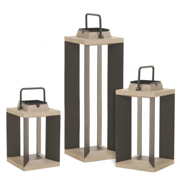 DURATEK Solar Lantern Aluminium Rechargeable LED Adjustable Brightness