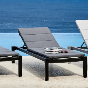 RELAX Sunbed in Antracite Aluminium with Grey cushion