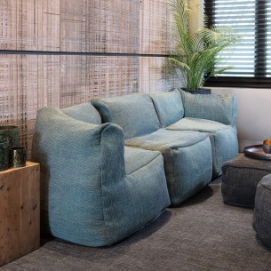 DOTTY LAGON Armchair Set 3 Seater Turquoise Size XL
