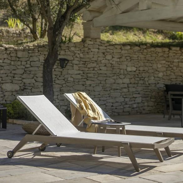 COPENHAGUE Sun Lounger in Duratek with White Batyline Eden