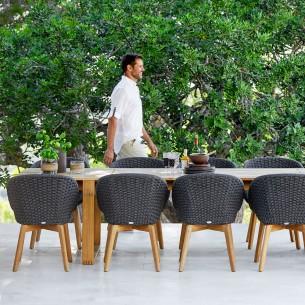 Chaise de jardin PEACOCK Corde souple et coussin gris