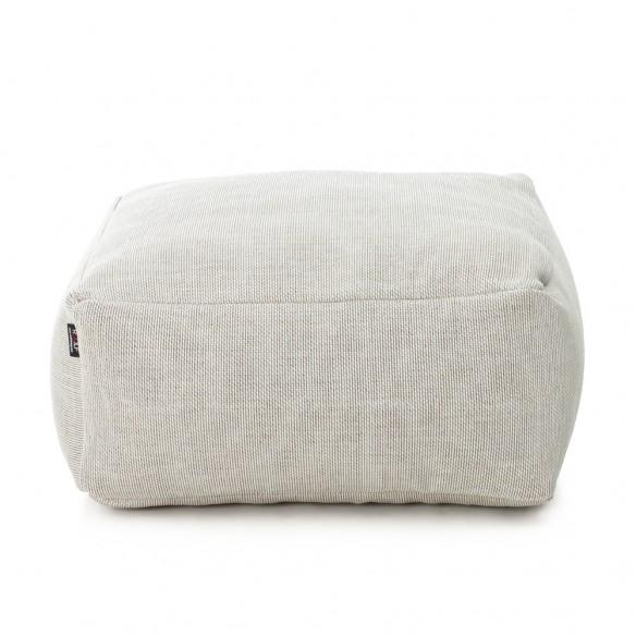 DOTTY Square Pouf White size S