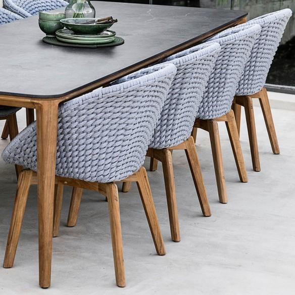 Cane line chaise de jardni Peacock