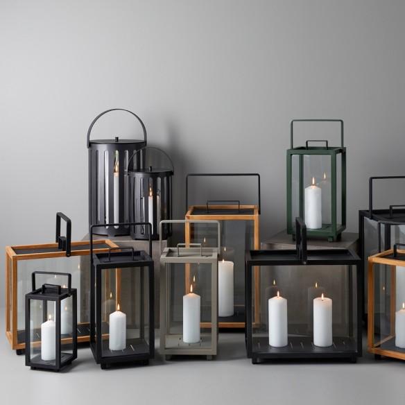 LIGHTHOUSE Lantern H37cm Aluminium Lava Grey