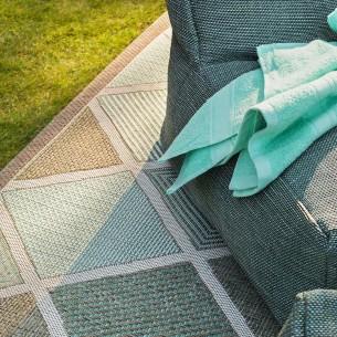 MERIDIAN Turquoise Polypropylene Outdoor Rug 230x330cm