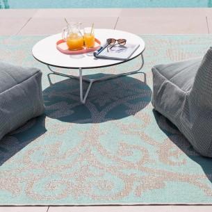 Summer Quai Turquoise Polypropylene Outdoor Rug 230x330cm