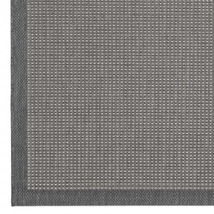 HUDSON Grey Polypropylene Outdoor Rug 230x330cm