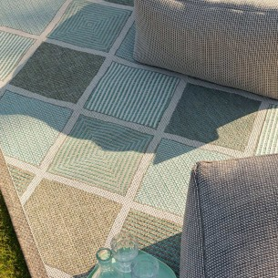 MERIDIAN Turquoise Polypropylene Outdoor Rug 180x280cm
