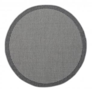 HUDSON Grey Polypropylene Round Outdoor Rug D230cm
