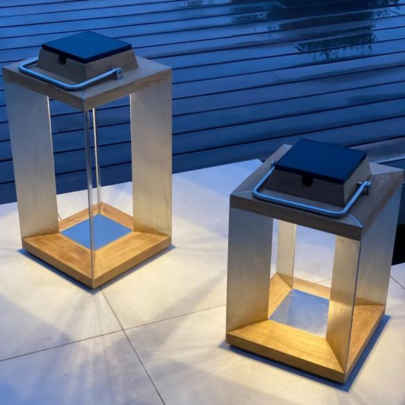 Les jardins BLADE Solar Lantern H45cm Rechargeable LED Adjustable Brightness