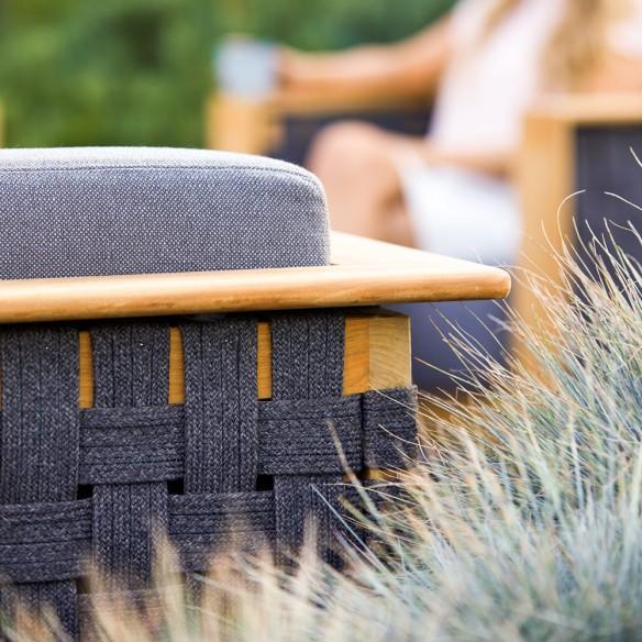 Cane-Line Angle 3 Seater Sofa Rope With Cushion Teak