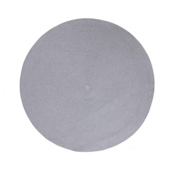 CIRCLE Light Grey Polypropylene Round Outdoor Rug D140cm Cane line