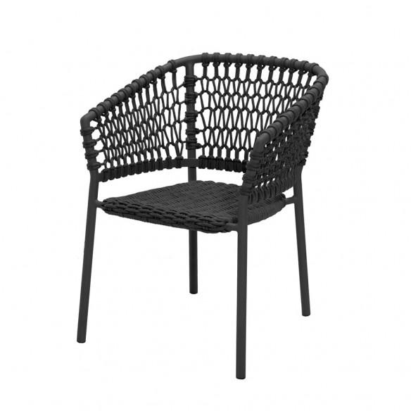 Chaise de jardin OCEAN Corde souple gris foncé