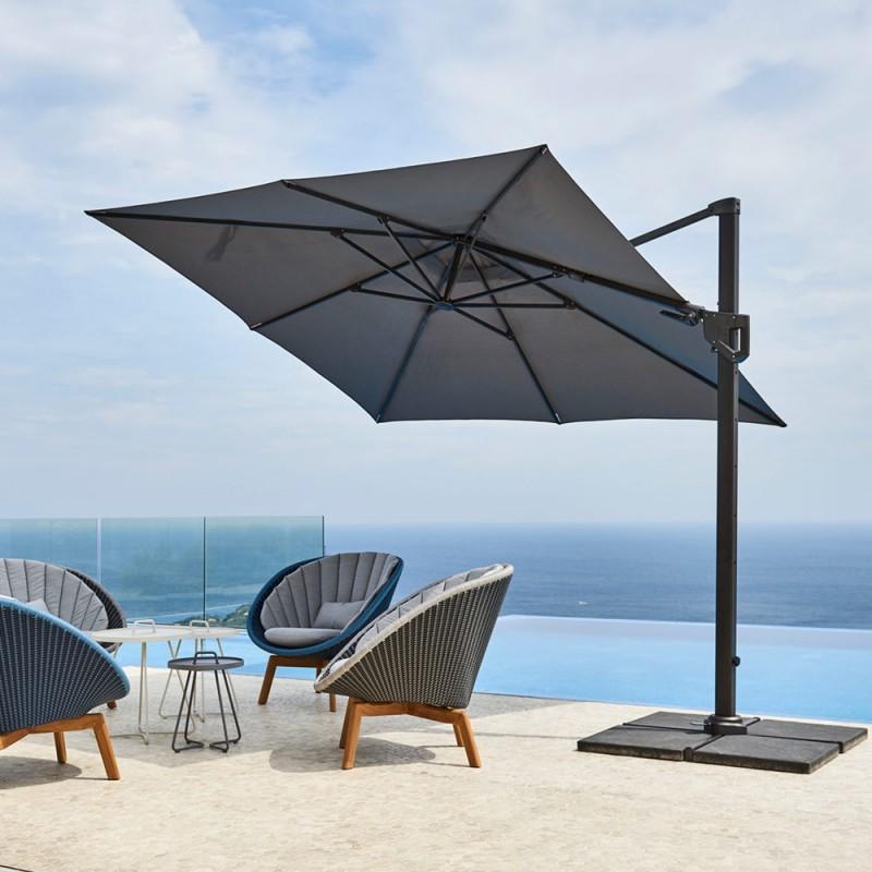 HYDE LUXE tilt parasol 3x3m Aluminium...