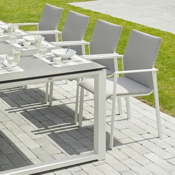 Chaise de jardin SENSE blanc et gris Life Outdoor Living