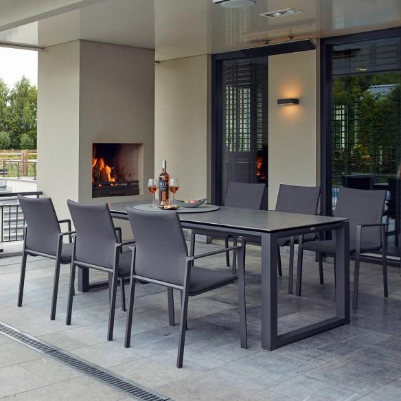 Chaise de jardin SENSE gris lave et gris anthracite Life