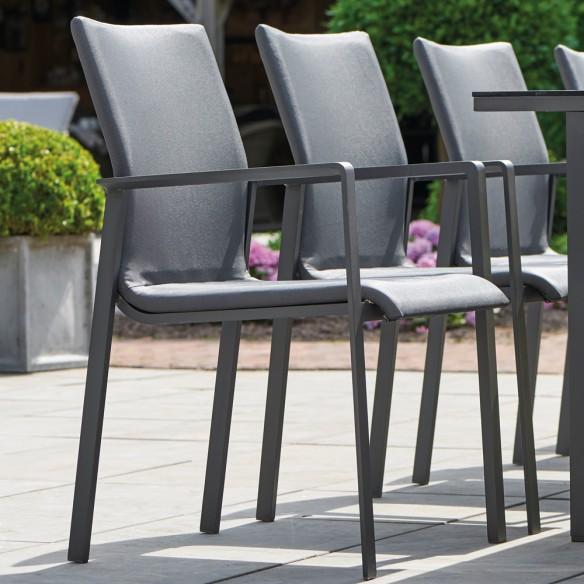 Chaise de jardin SENSE gris lave et gris anthracite