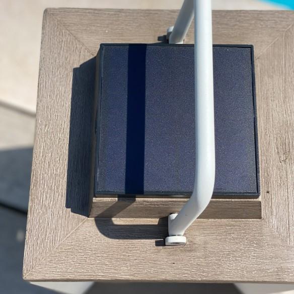 Les Jardins DURATEK Solar Lantern H65cm White Aluminium Rechargeable LED Adjustable Brightness