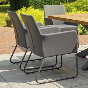 Chaise de jardin BLIXUM gris lave et gris anthracite