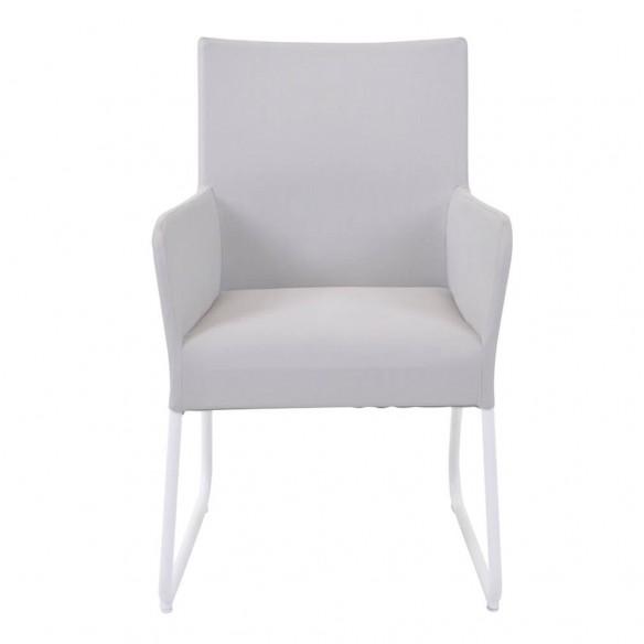 Chaise de jardin BLIXUM blanc et ivoire