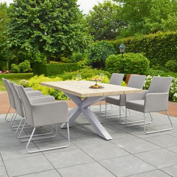 Chaise de jardin BLIXUM blanc et ivoire Life Outdoor