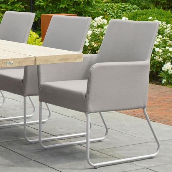 Chaise de jardin BLIXUM blanc et ivoire textylene