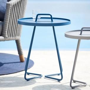ON THE MOVE Side Table H54cm Aluminium Dusty Blue